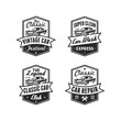 Set of Old Style Vintage Classic Car Vector Logo, Badge, Emblem, Icon, Sticker.