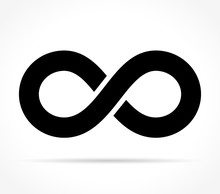 Infinity Icon On White Background