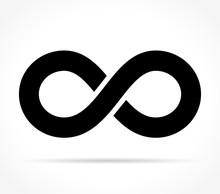 Infinity Icon On White Backgro...