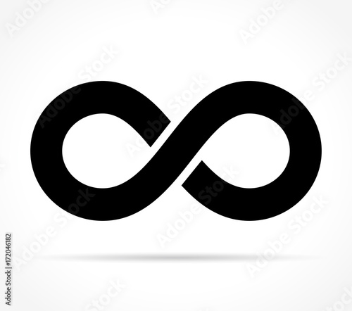 Fotografia infinity icon on white background