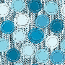 Sewed Blue Round Shapes Seamless Background