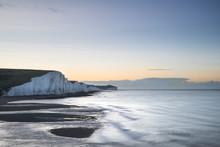 Beautiful Dawn Landscape Of Se...
