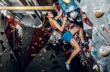 Professional Female Climber On...