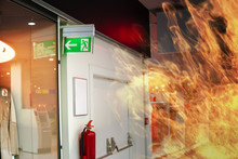Emergency Fire Exit Sign And F...