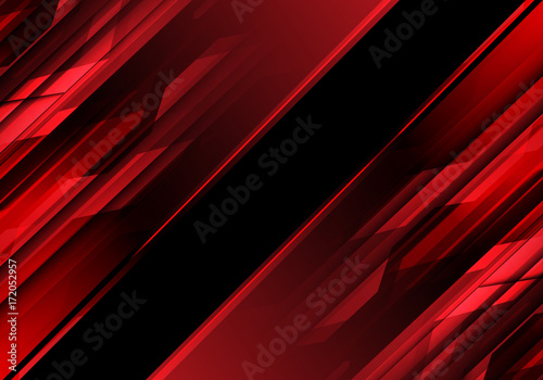 Obrazy czerwone  abstract-red-polygon-light-in-black-design-modern-technology-background-vector-illustratio