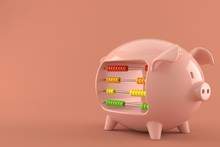Piggy Bank With Abacus
