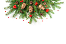 Christmas Tree Branches With C...