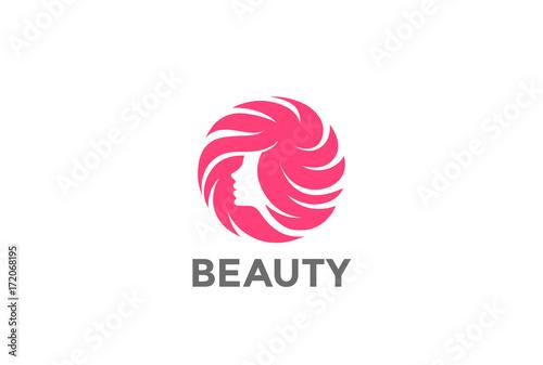 Beauty Hair Makeup Salon Logo vector