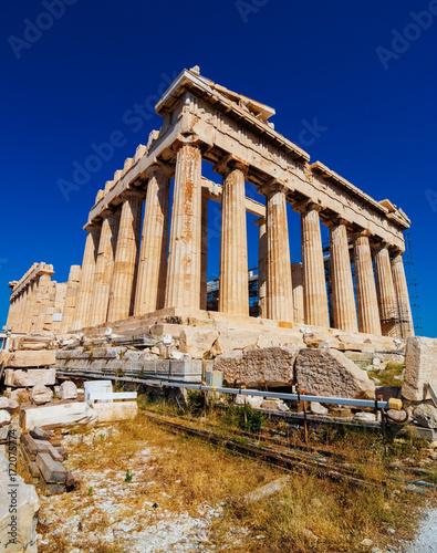 The Parthenon on the Athenian Acropolis, Greece