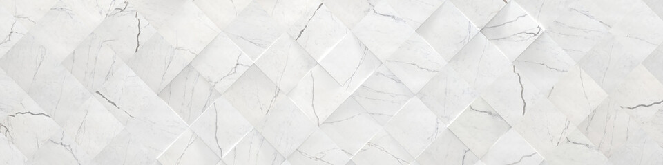 Fototapeta Kamienie White Wide Marble Background (3d illustration)