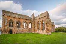 Gothic Arches Of Egglestone Abbey / The Remains Of Egglestone Abbey On The Banks Of River Tees, Near Barnard Castle In County Durham
