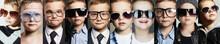 Children In Glasses And Sungla...