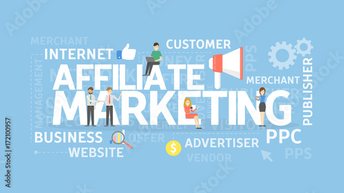 Photo Affiliate marketing concept.