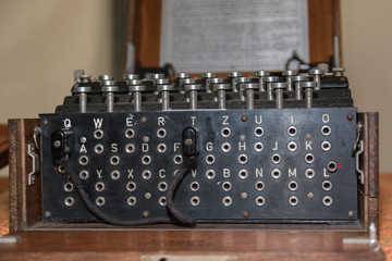 The Enigma Cipher Machine from World War II