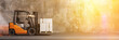 Schneller Gabelstapler mit Paket Lieferung