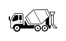 Concrete Mixer Truck Illustrat...