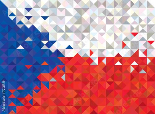 Fotomural Abstract Czech Republic Flag, Czech Colors (Vector Art)