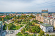 Belgrade, Serbia 11.09.2017. : Panorama of Belgrade taken from the temple Saint Sava