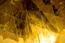 Dark Gold Geometric Shapes Gla...