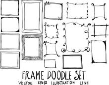 Set Of Frame Doodle Illustrati...