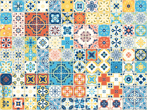 Foto  Seamless pattern with portuguese tiles