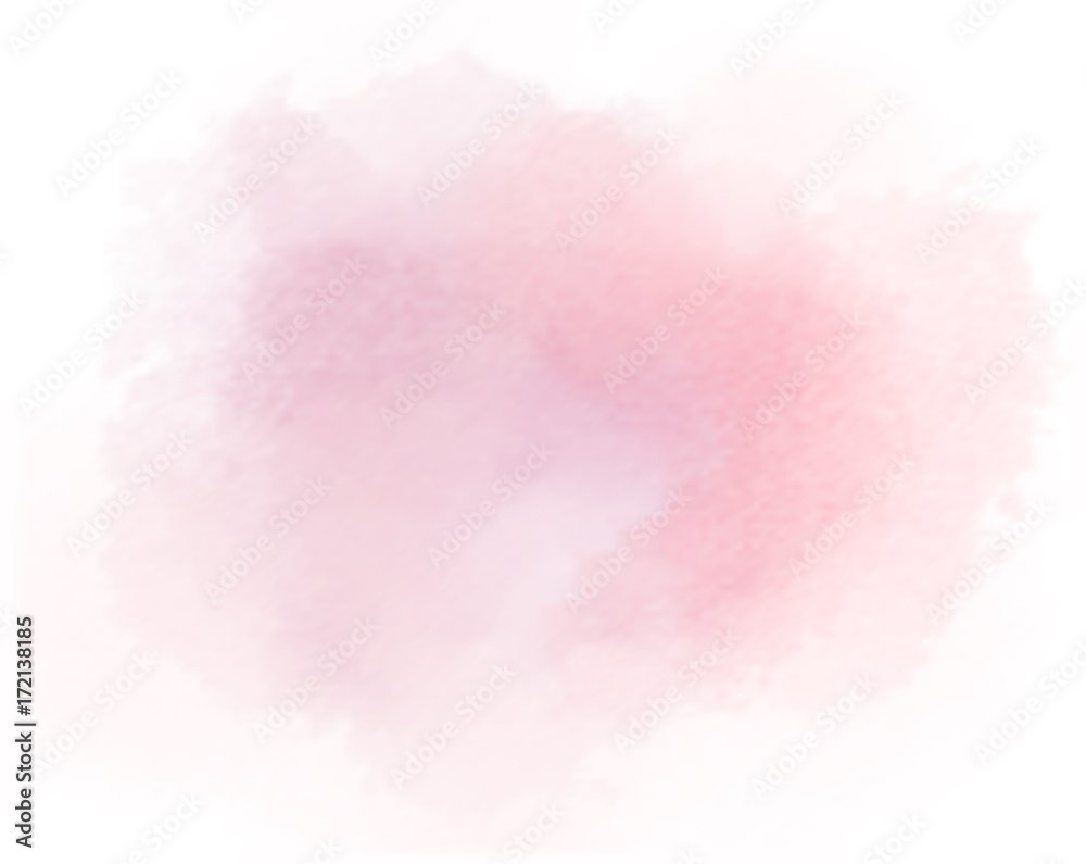 Fototapety, obrazy: salmon watercolor splotch painted pink background vector