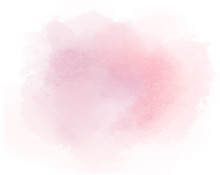 Salmon Watercolor Splotch Painted Pink Background Vector