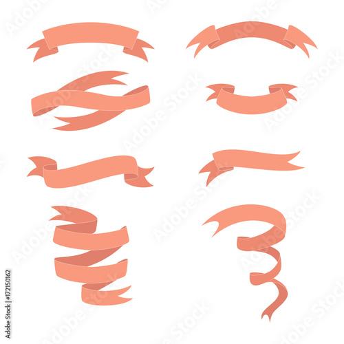Stampe  Flat ribbons set