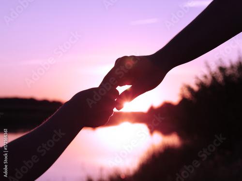 Fotografia, Obraz  Hands of holding each other