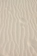Human footsteps in the sand dunes