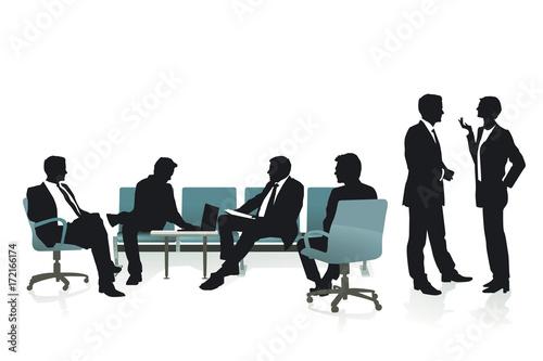 Fényképezés Beratung und Strategie mit Mitarbeitern, Illustration