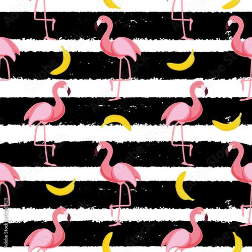 Materiał do szycia Ilustracja wektorowa ładny wzór Flamingo