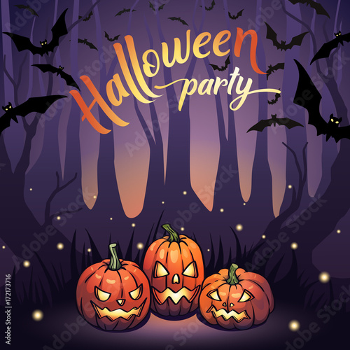 Vector Halloween Design For Banner Poster Cover Template Card Holiday Party