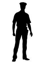 Police Officer Vector Silhouet...