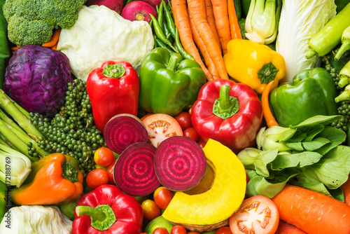 Tuinposter Groenten Different fresh vegetables for eating healthy