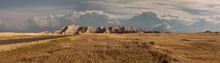 Gorgeous Breathtaking Majestic Panoramic View Of Grassland And Mountains In National Park