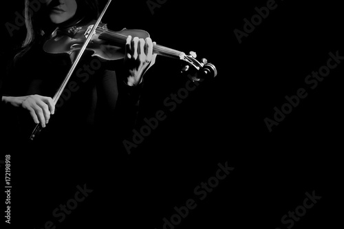Photo sur Toile Musique Violin player Violinist playing violin