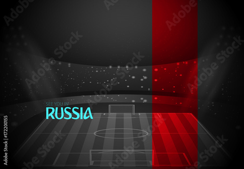 d0783f6a1a1d0 eps 10 vector black and white Russia football promotion poster ...