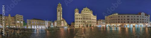 Augsburg Rathausplatz Panorama Wallpaper Mural