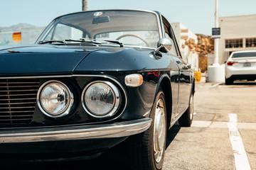 vintage lancia car close up