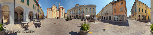 Asola, Piazza XX Settembre a 360 gradi Fototapet