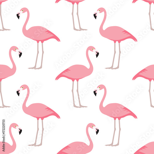 Canvas Prints Flamingo Bird Flamingo seamless pattern