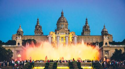 Fototapeta na wymiar Fountain in Barcelona