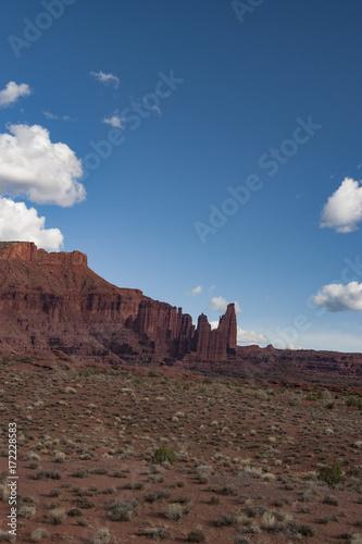 Moab Utah slick rock strata of the American Southwest is a
