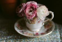 Pretty Ranunculus Flowers In A...