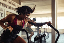Fit Young Woman Doing Cardio W...