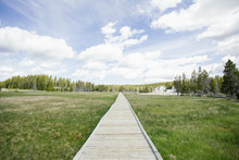Wooden Boardwalks On The Geoth...