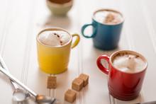 Three Small Cappuccinos