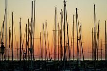 Sunset & Sailboats