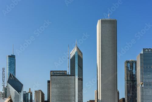 Obraz na dibondzie (fotoboard) Pejzaż z drapaczy chmur, takich jak Prudential w Chicago, USA